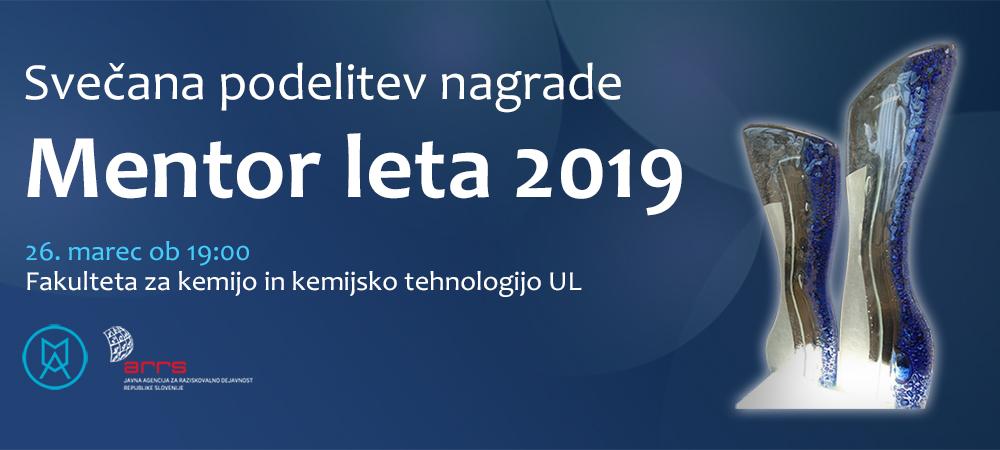 Slavnostna podelitev nagrade Mentor leta 2019 – PRESTAVLJENA