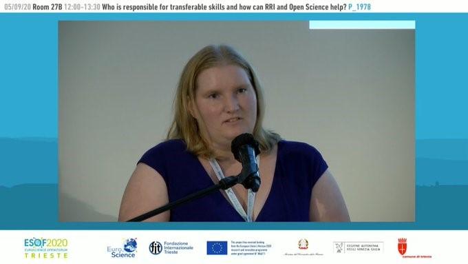 Ana Slavec na forumu ESOF 2020