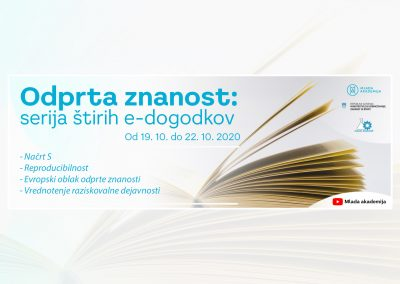 Odprta znanost 2020 – oktober 2020