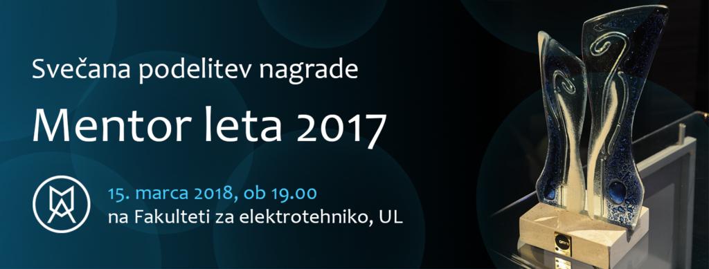 Slavnostna podelitev nagrade Mentor leta 2017
