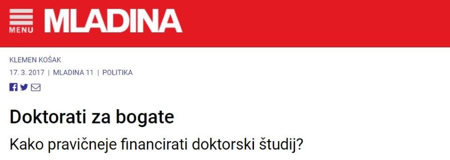 Jernej Zupanc podal izjavo o novi Uredbi o sofinanciranju doktorskega študija