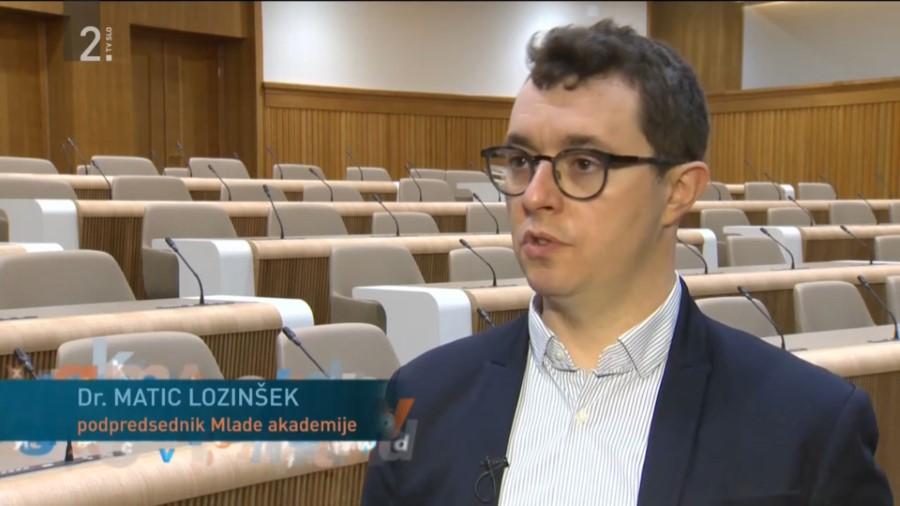 Matic Lozinšek za RTV SLO podal izjavo o stališču Mlade akademije do ZRRD