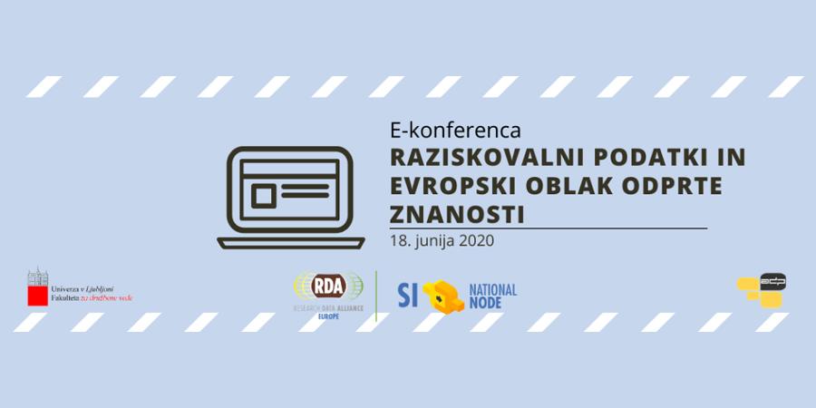 Ana Slavec na konferenci o raziskovalnih podatkih in EOSC