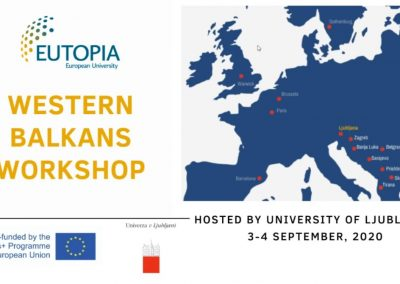 EUTOPIA2050 Western Balkans Workshop – september 2020