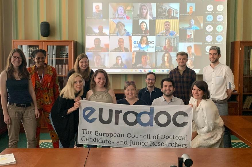 Danila Rijavec in Sebastian Dahle na Eurodocovem letnem srečanju 2021